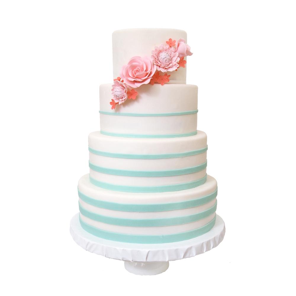 Fading Stripes    Sugarlips Cakes    www.SugarlipsCakes.com