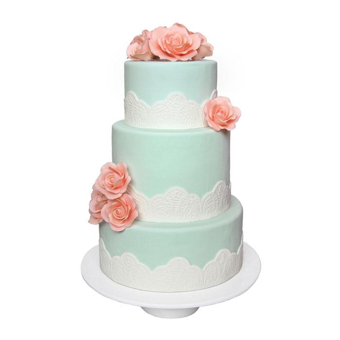 Mint & Peach || Sugarlips Cakes || www.SugarlipsCakes.com