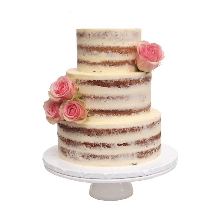 Naked Cake || Sugarlips Cakes || www.SugarlipsCakes.com