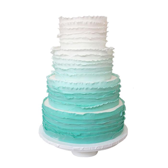 Ombre Ruffles || Sugarlips Cakes || www.SugarlipsCakes.com