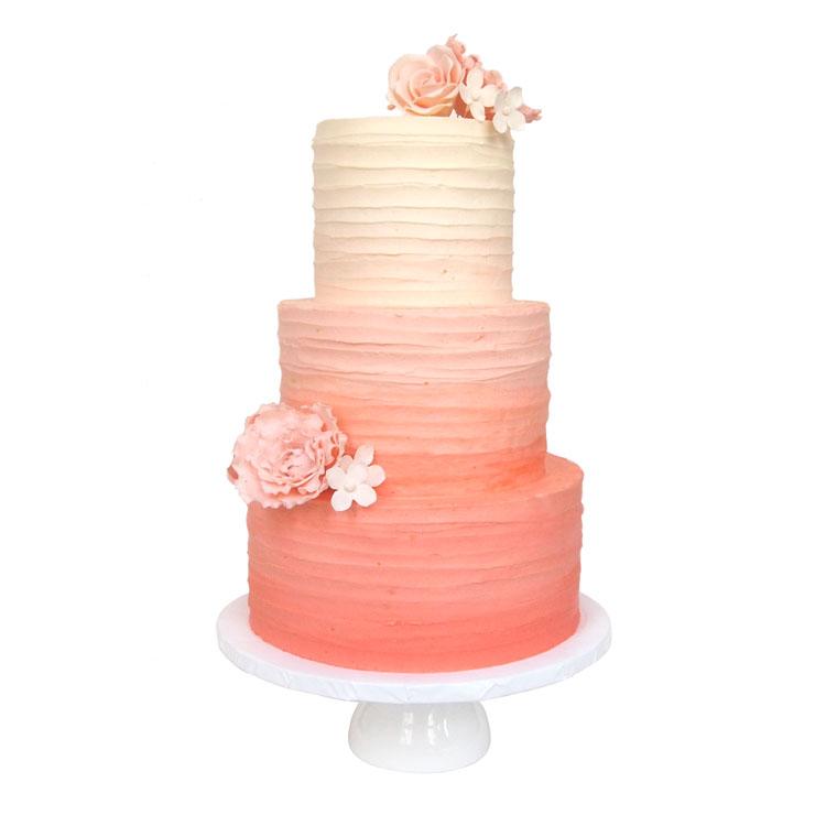 Coral Ombre || Sugarlips Cakes || www.SugarlipsCakes.com
