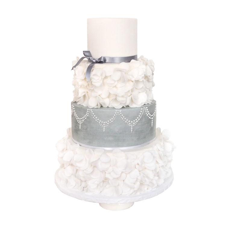 Silver Ruffles || Sugarlips Cakes || www.SugarlipsCakes.com
