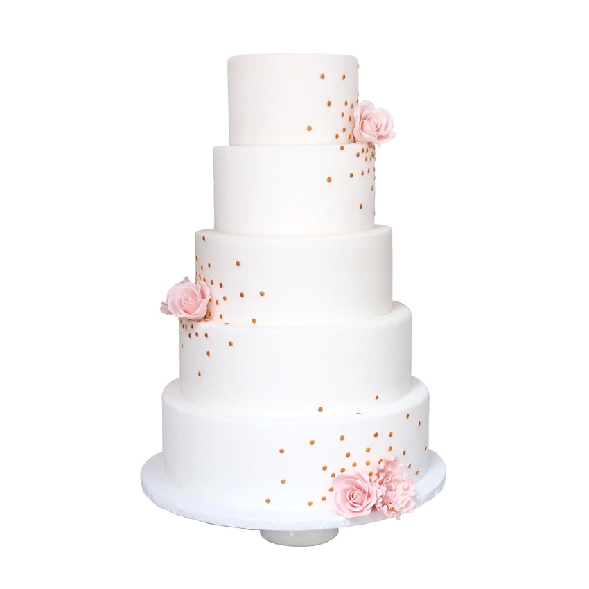 Gold Confetti Cake || Sugarlips Cakes || www.SugarlipsCakes.com