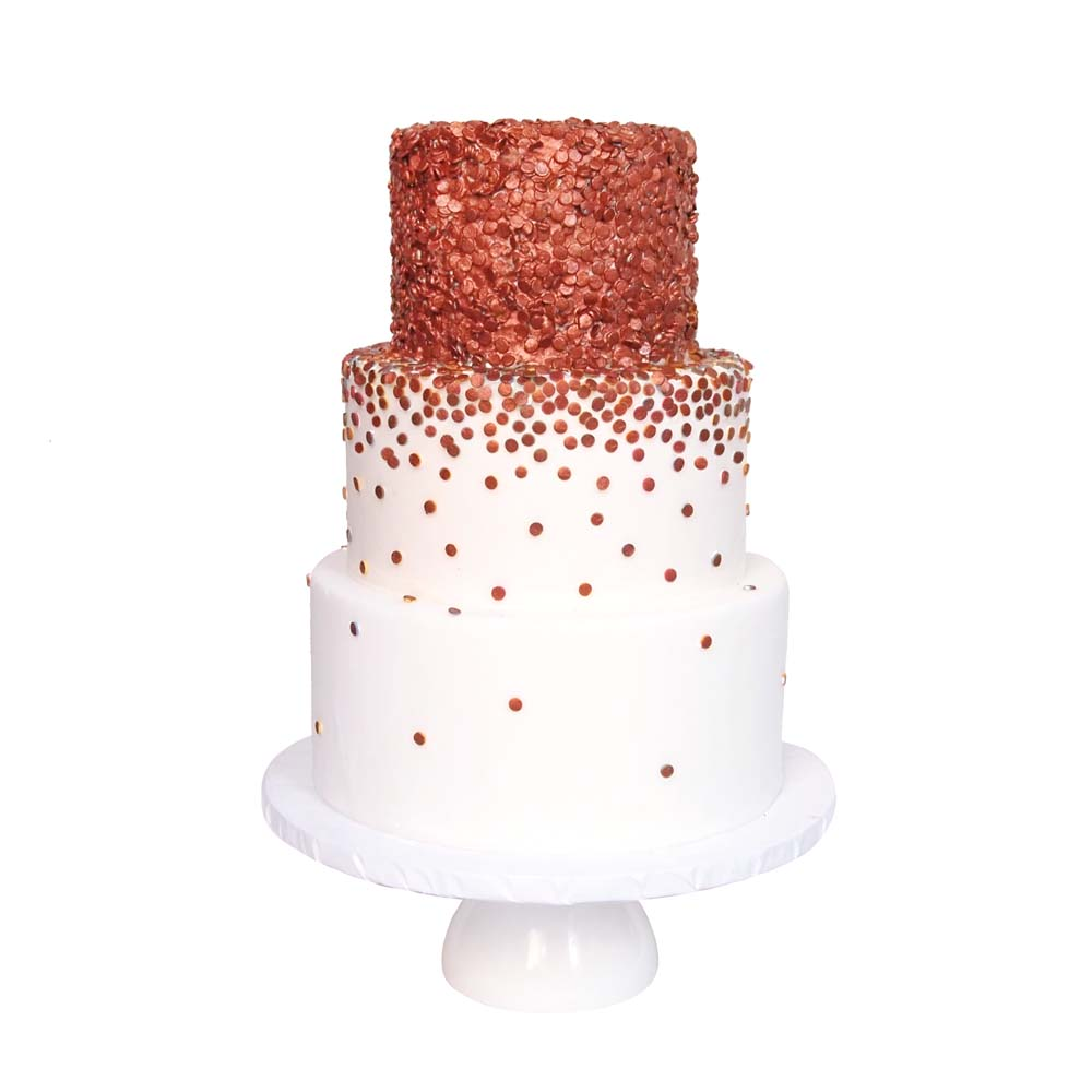 Copper Confetti || Sugarlips Cakes || www.SugarlipsCakes.com