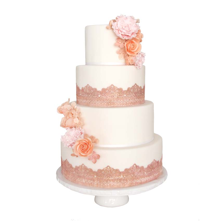 dusty pink and rose gold wedding cake dusty pink and gold wedding cake wedding cake from 13794