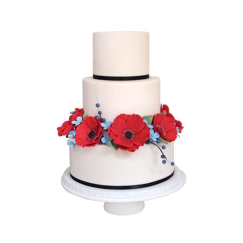 Poppy & Field Flowers || Sugarlips Cakes || www.SugarlipsCakes.com