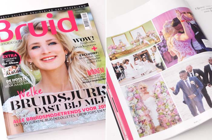 Bruidstaart van Sugarlips Cakes gepubliceerd in Bruid & Bruidegom