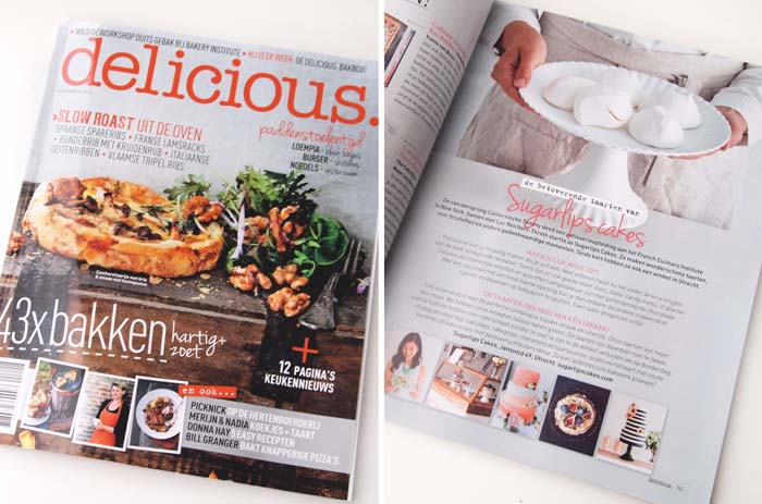 Sugarlips Cakes published in Delicious Magazine
