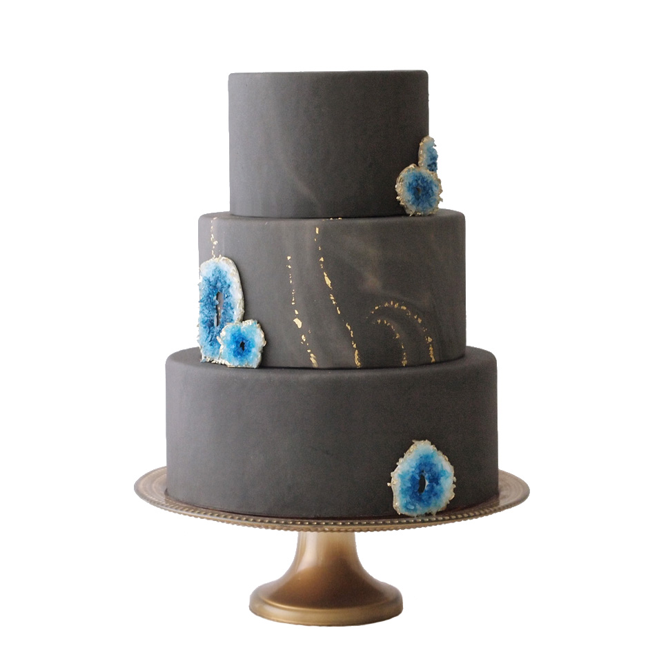 Marble & Geodes || Sugarlips Cakes || www.SugarlipsCakes.com