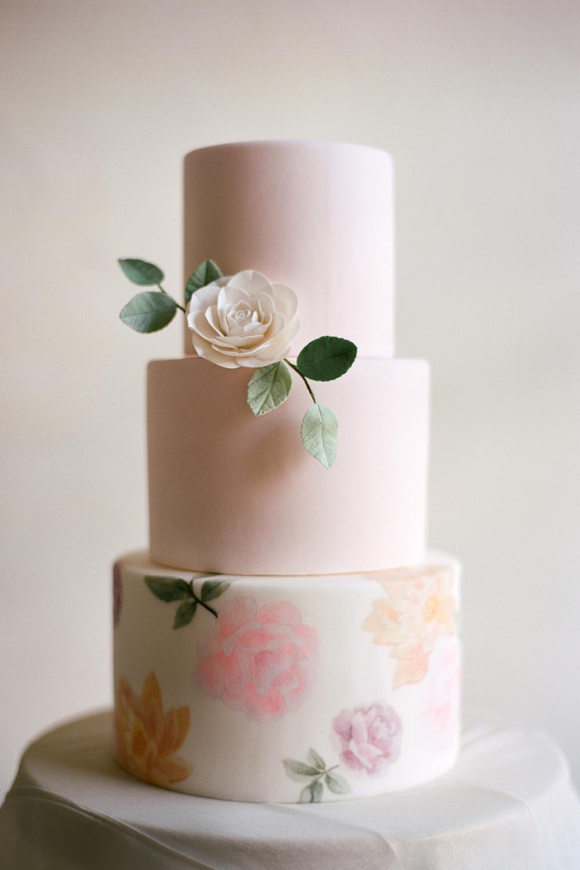 Painted Wedding Cake || Photo by Audra Wrisley