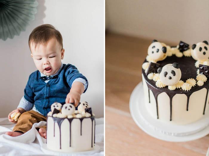 Panda Birthday Cake Smash
