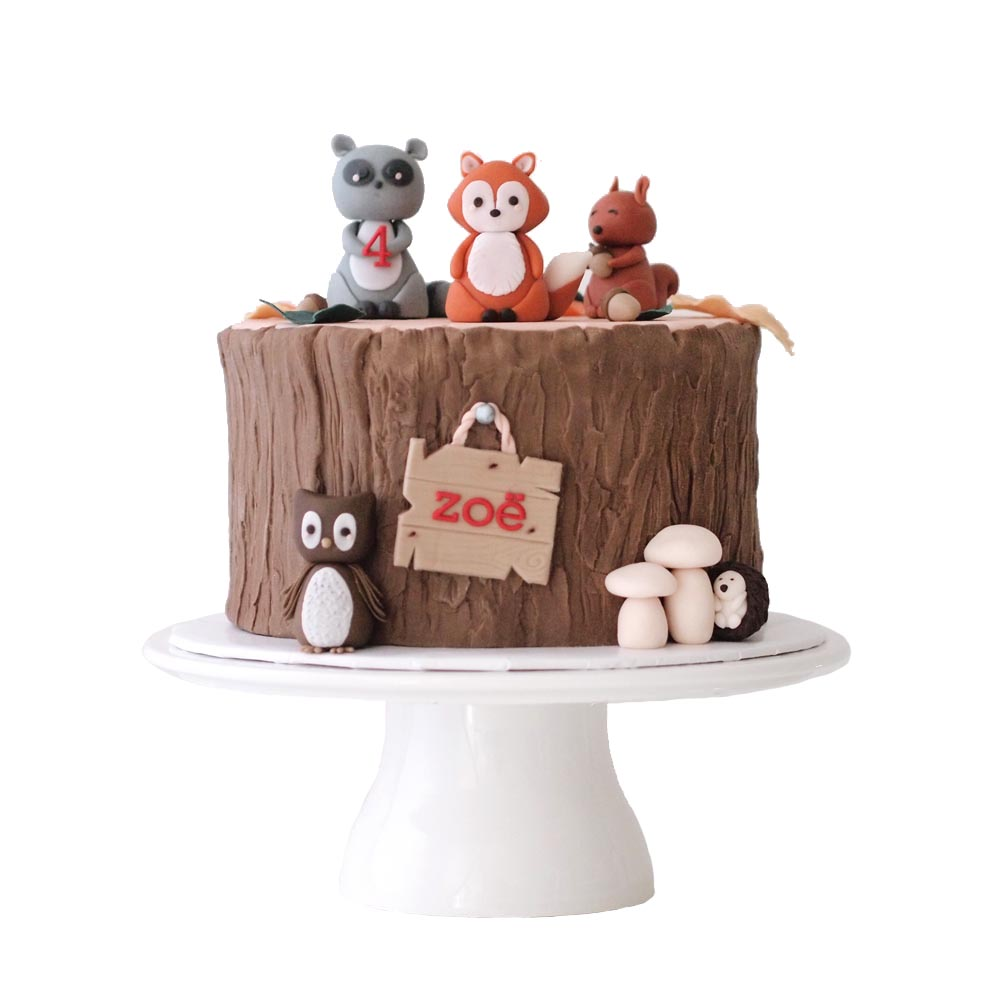 Woodland Creature Birthday Cake