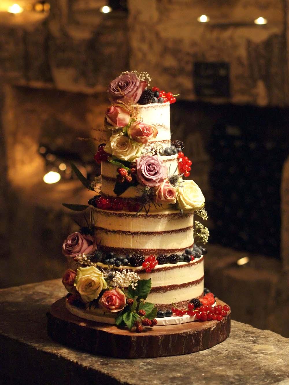 Unique Naked Wedding Cake