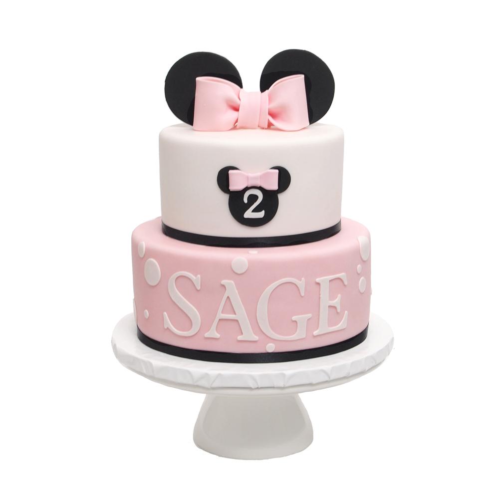 Minnie Mouse Meisjes Verjaardagstaart Roze