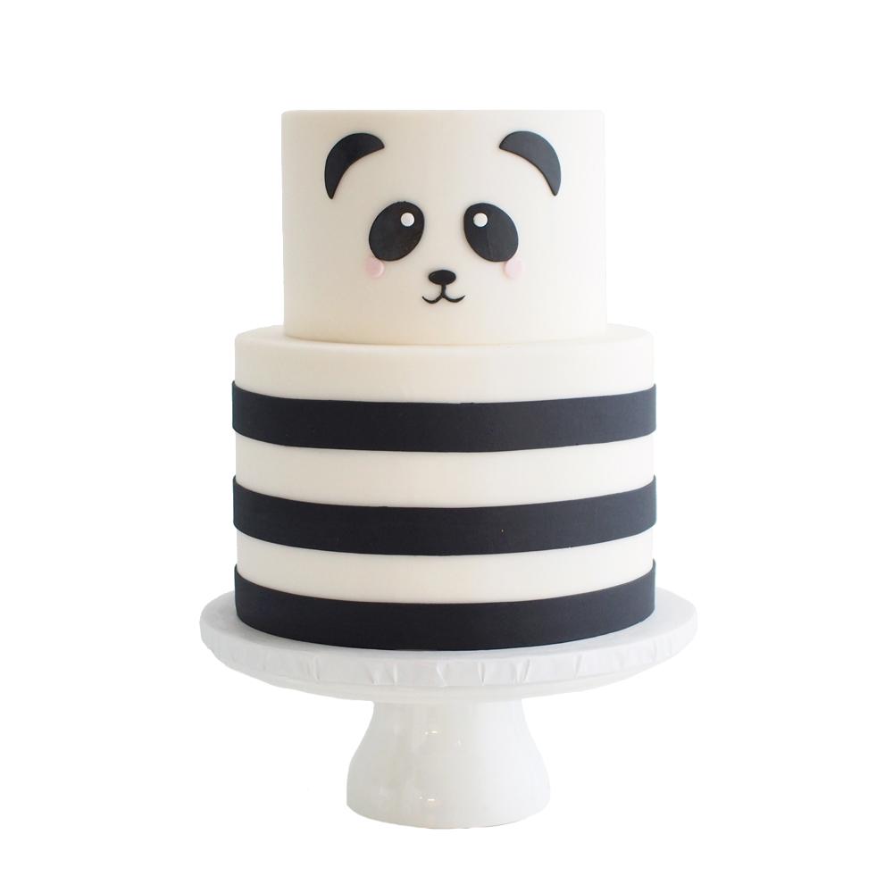 Panda 1st Birthday Cake
