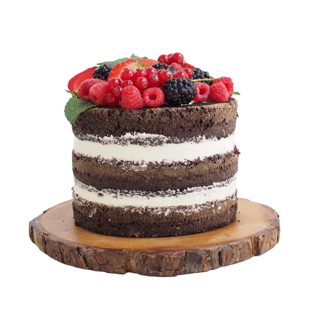 Chocolate Naked Cake with Fruit