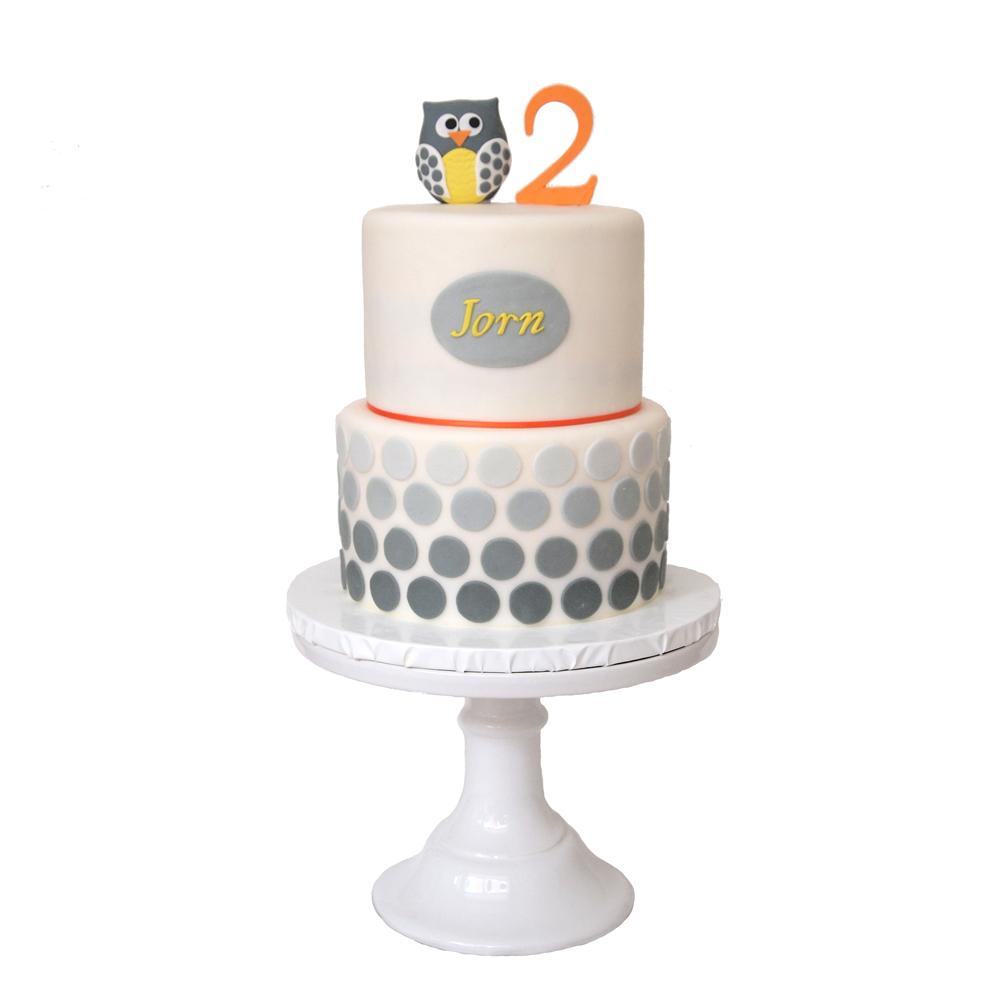 Owl 2nd Birthday Cake