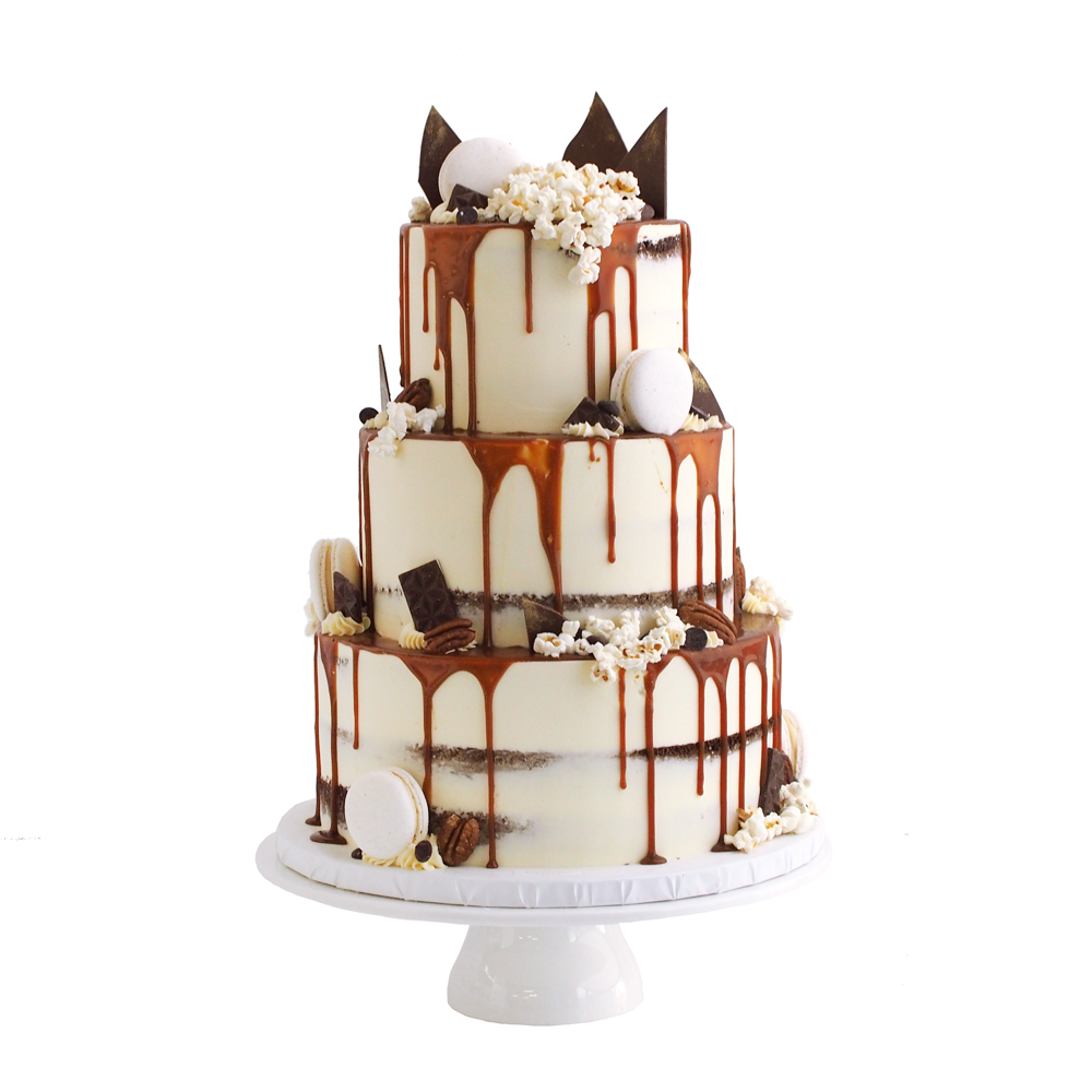 Salted Caramel Drip Cake with Chocolate