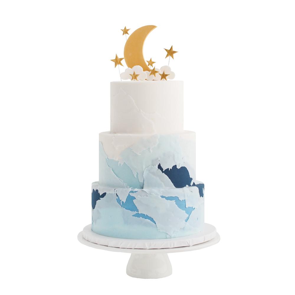 Moon & Stars Birthday Cake
